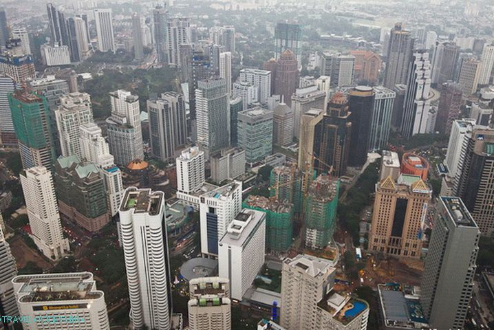 Kuala Lumpur from a height