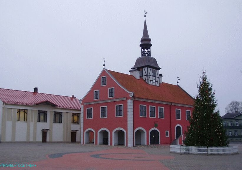 The historic center of Bauska