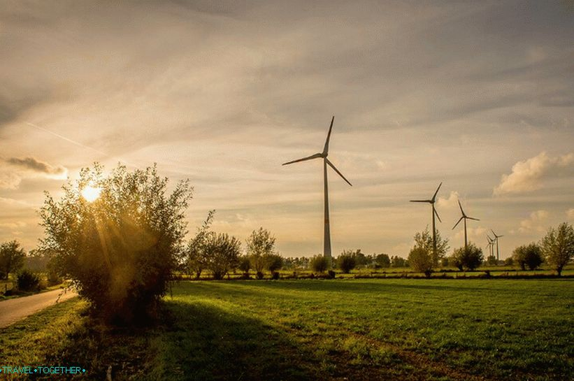 Wind generators in Belgium are a typical element of landscapes
