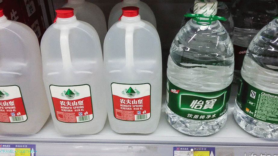 Water 4.5 liters costs the same as a few 1.5