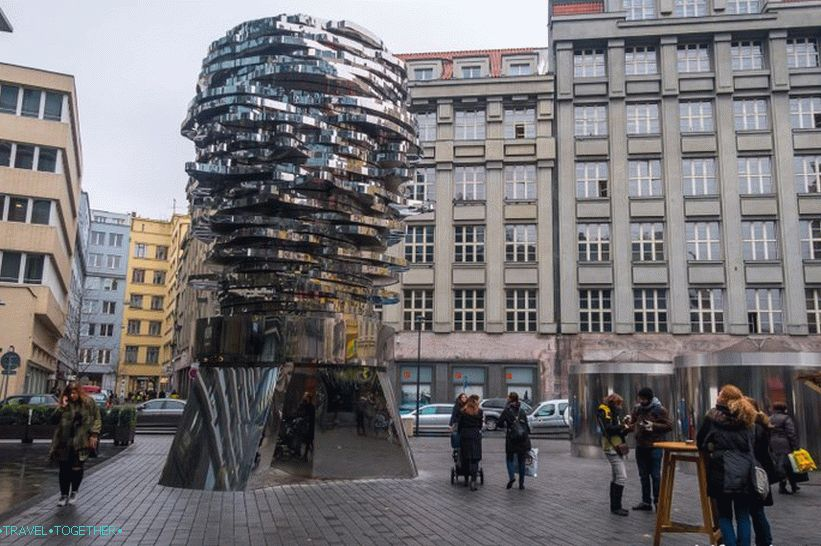 Kafka's head in Prague is a silent movement of brilliant thoughts