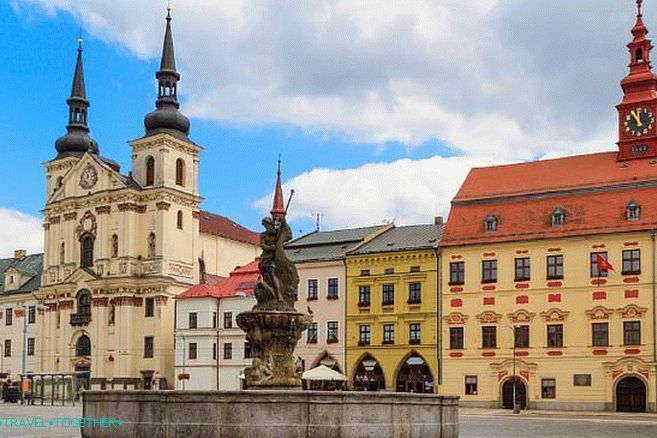 Jihlava Center - Town Hall and the Fountain of Neptune