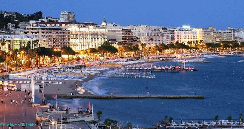 Cannes in the evening