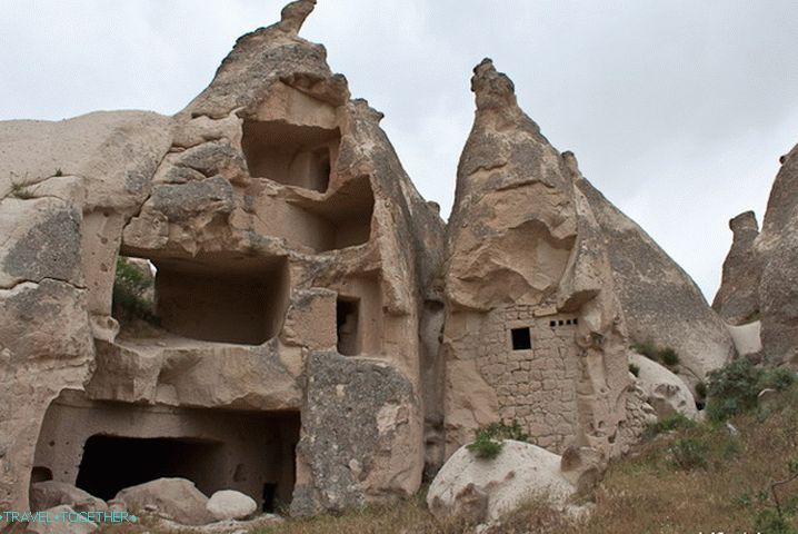 Next to Goreme. A sectional house.