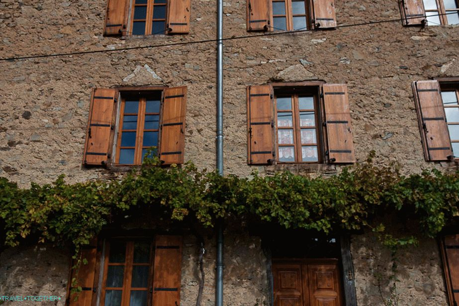 Shutters on the windows - a very typical phenomenon in France