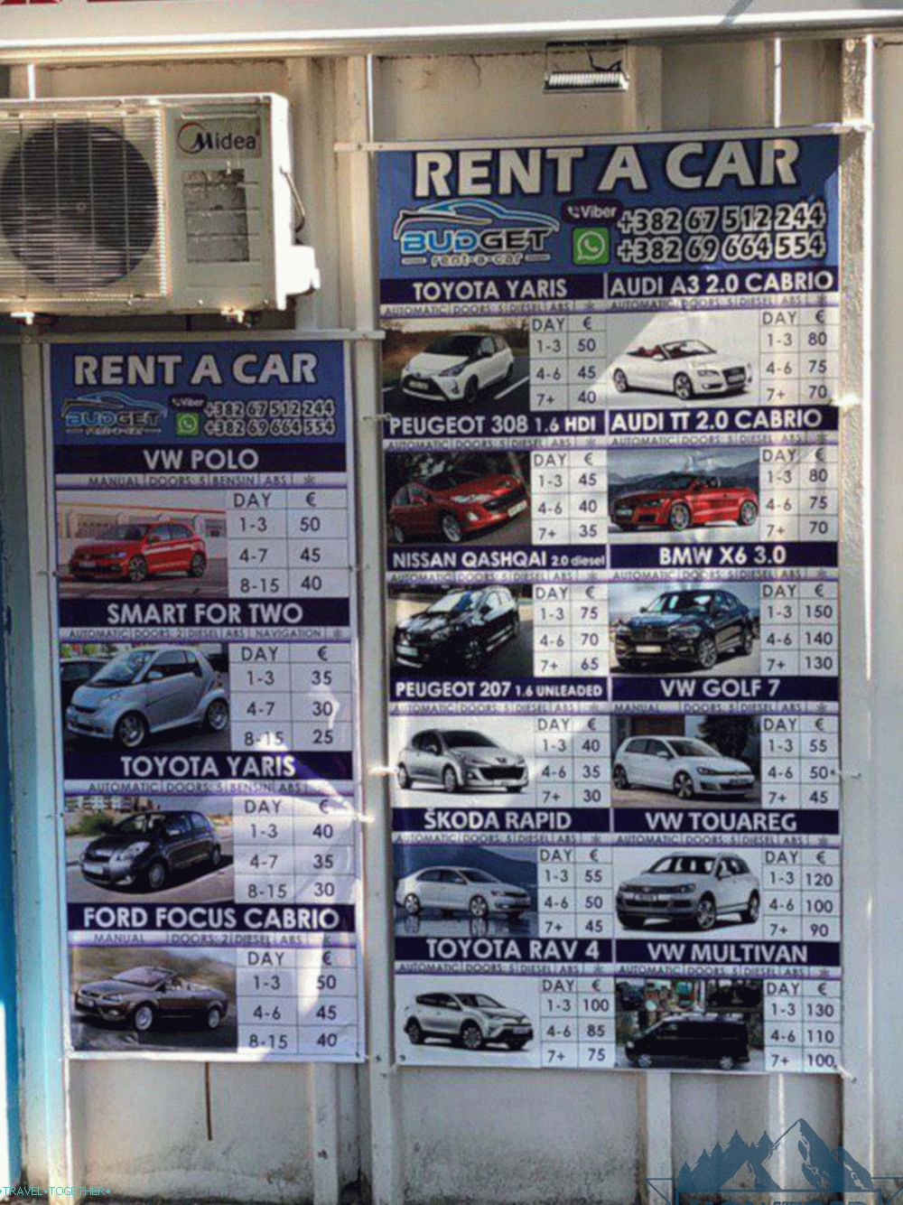 Car rental prices
