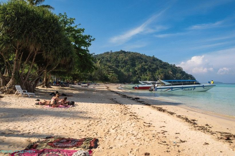 Lo Mo De Beach is the most beautiful beach on Phi Phi Don