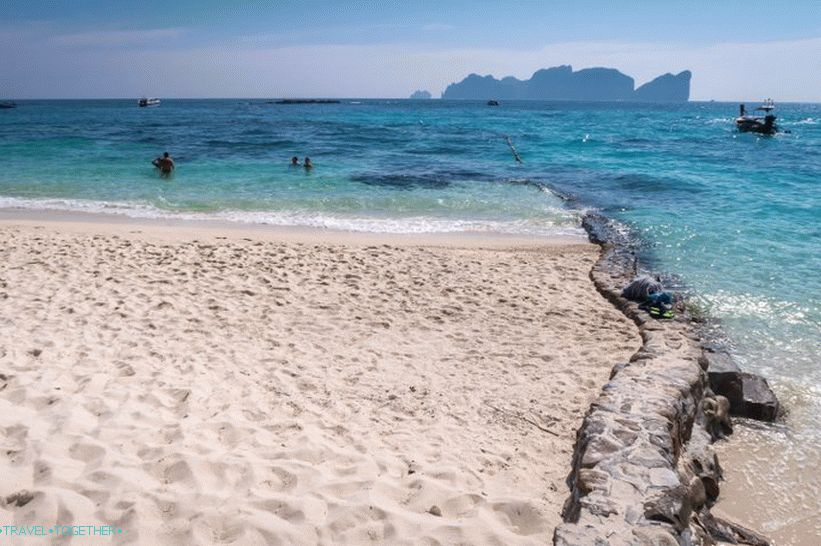 Long Beach on Phi Phi Don - standard tourist beach