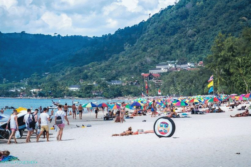 Patong Beach, the central part