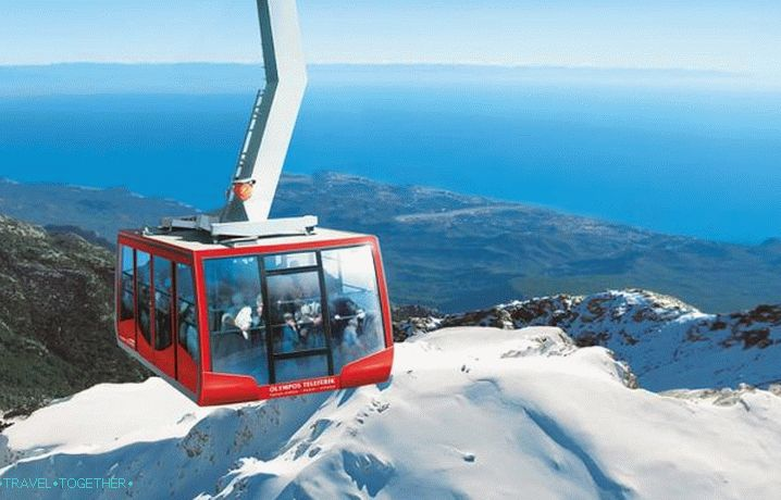 Weather in Kemer in January - Cable car to Kemer