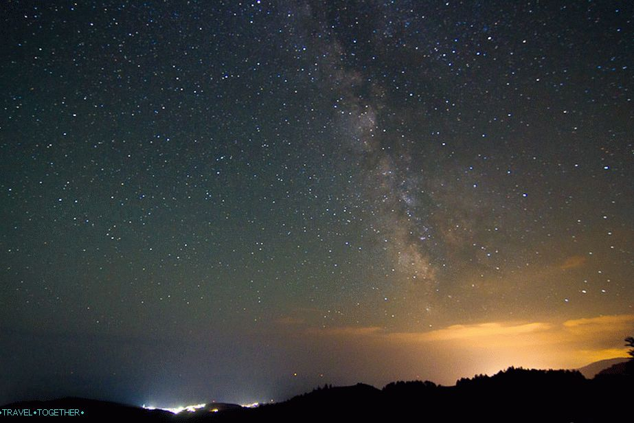 And again the starry sky of Crimea