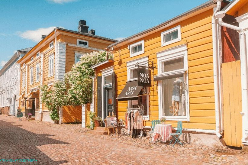 Old wooden houses in Porvoo