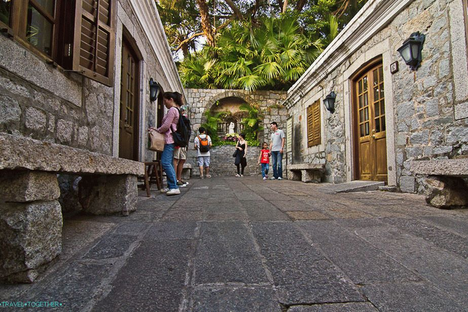 Entrance to the Portuguese fort of Macau