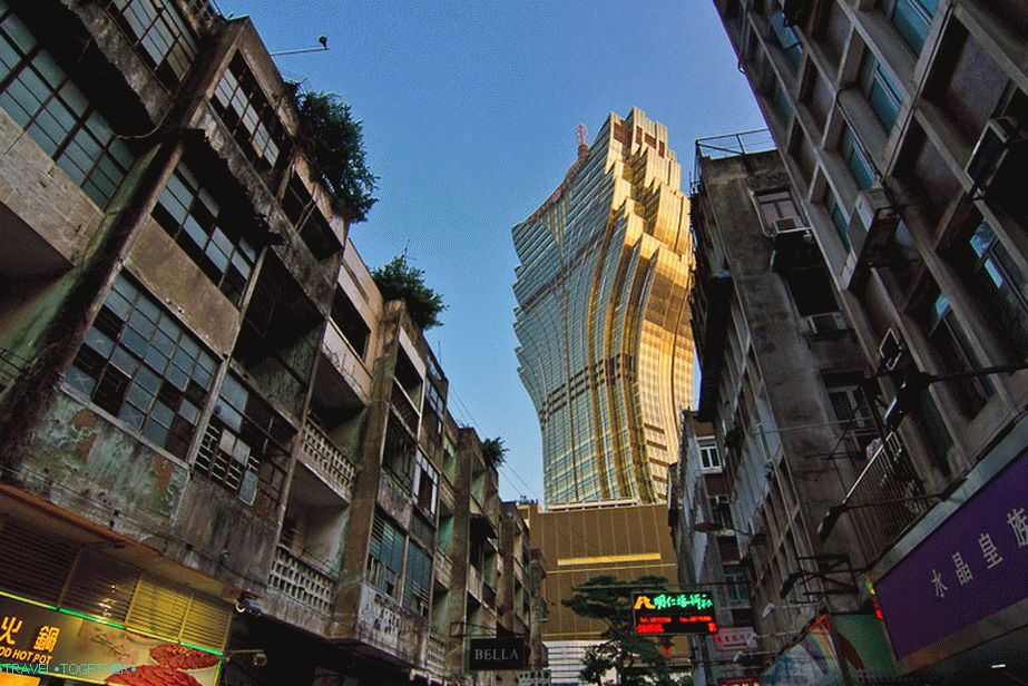 Lisboa building can be seen from almost every corner of Macau