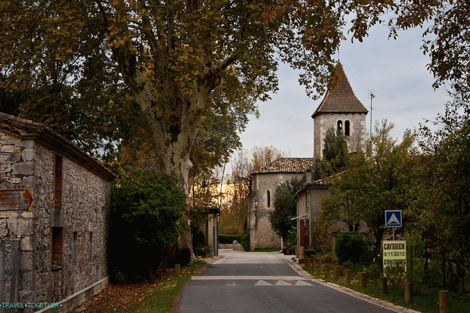 Small stone towns on the road - France