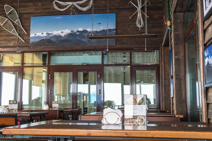 Restaurant Height at 2320 meters - the best view of Rosa Khutor