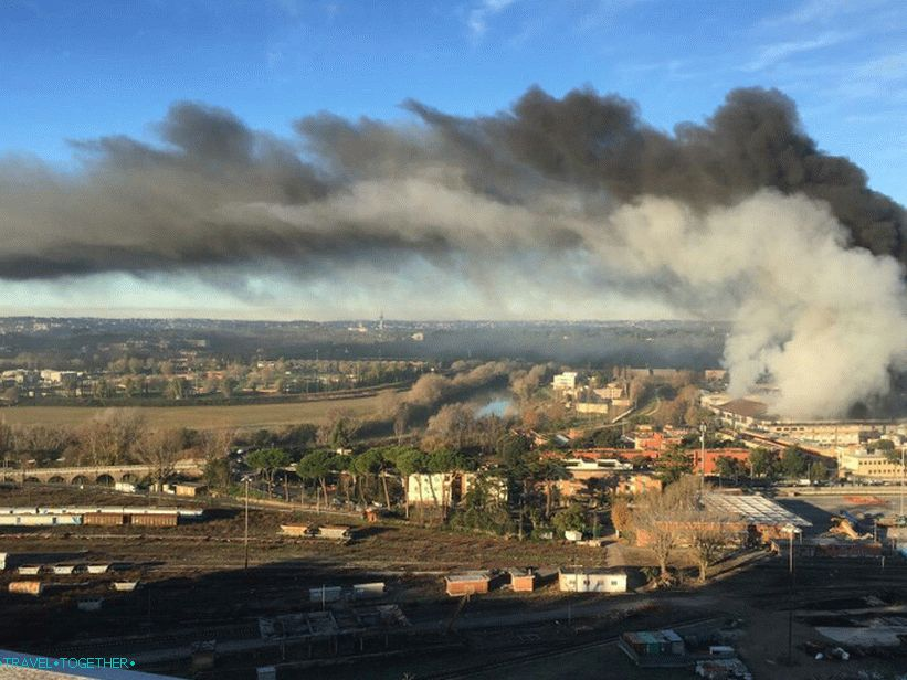 A fire at a recycling plant in Salario