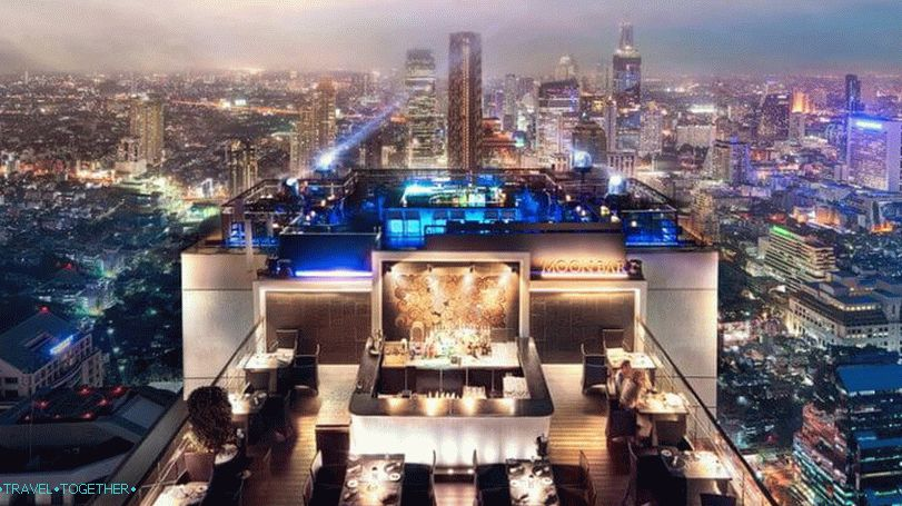 Bangkok viewing platforms - rooftop bar