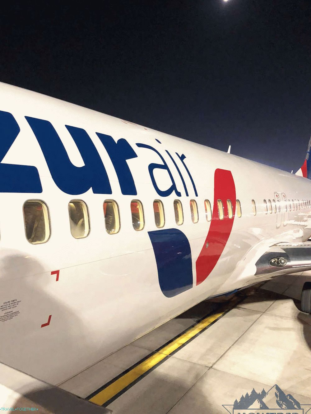 Azur Air charter flight