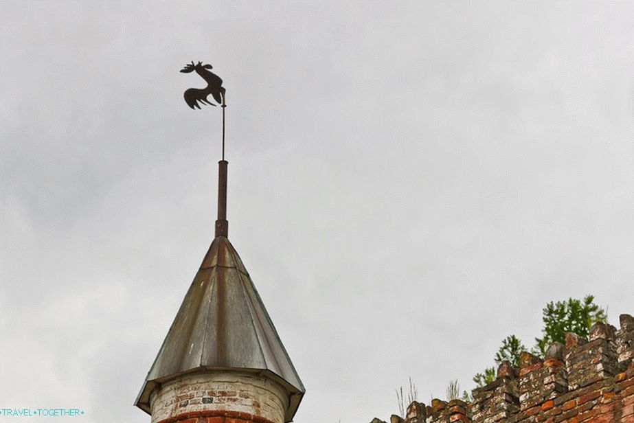 Weathervane on the roof of the mini-lock