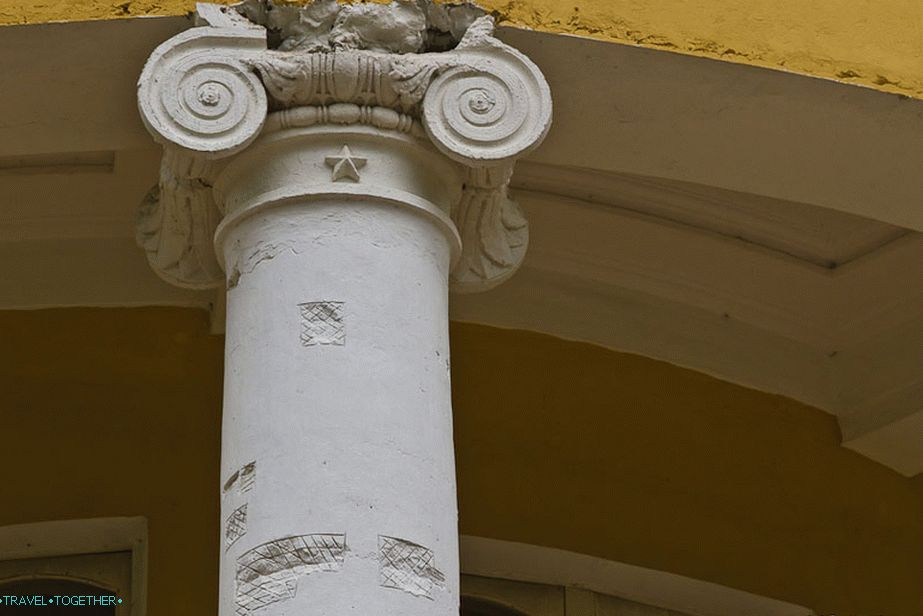 Columns of the main house