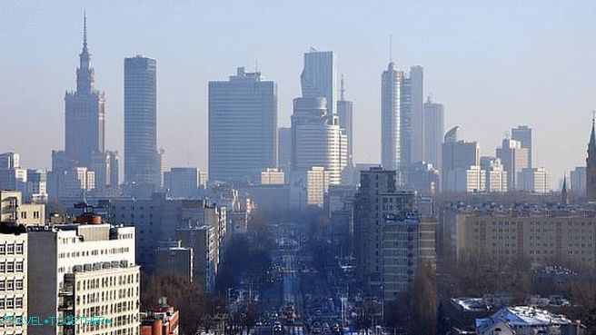 Warsaw, view of the new city