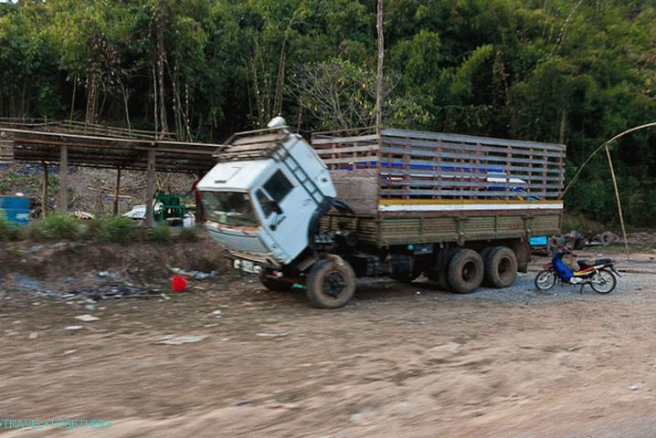 There are many KamAZ in Laos