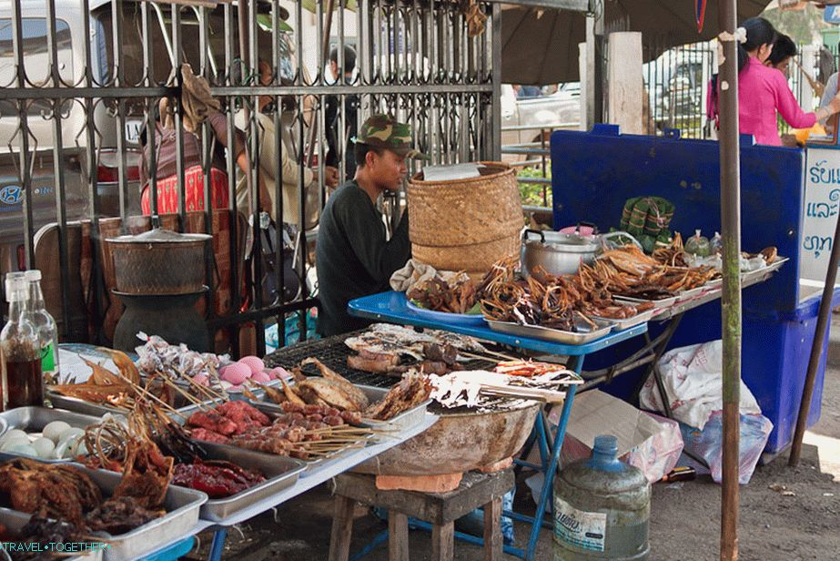 Food on the street, as in Thailand